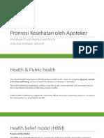 Promosi Kesehatan Oleh Apoteker