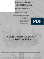 CÓDIGO DEONTOLÓGICO ARQUITECTURA
