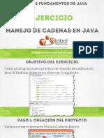CFJ B Ejercicio Manejo Cadenas Java