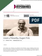 Uvod u Filosofiju, Eugen Fink _ Hyperborea