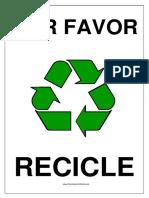 Por Favor Recicle