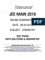 Jee Main 2016 Online CBT Solution Chemistry 09-04-2016