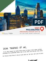 Visit Philadelphia Messaging Toolkit 2017-18
