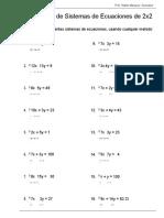 Sistemas de Ecuaciones Lineales 2x2