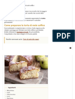 Ricetta Torta Di Mele Soffice e Profumata _ Ricette Della Nonna