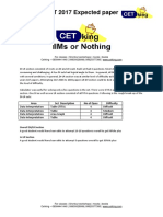CAT 2017 Expected Paper DI Section With Solutions by Cetking