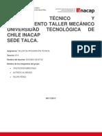 TRABAJO TALLER DE INTEGRACIÓN
