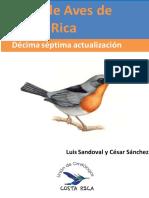 Lista de Aves de Costa Rica XVII