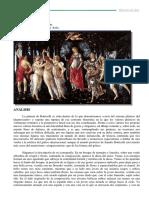 Comentario t9 La Primavera Botticelli