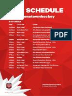 Rogers Hometown Hockey - Williams Lake Entertainment Schedule