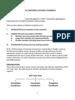 ACE Team (Assimilation,Connection, Evangelism) PROGRAM OUTLINE