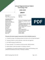 Final Draft MRSD Tech Plan 2006-2009