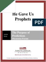 He Gave Us Prophets - Lesson 7 - Forum Transcript