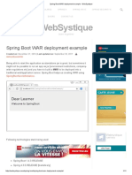 Spring Boot WAR Deployment Example - WebSystique