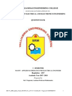 MA5155-Applied Mathematics for Electrical Engineers-QB