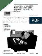 Novas Politicas de Recursos Humanos_impactos Na Subjetividade