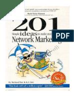201 Ideias Marketig de Rede