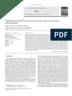 Alteracion Hidrotermal en Granitos Profundamente Fracturados