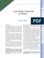 Ingreso Básico Universal en México (Bien Común 273)