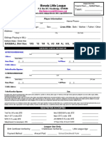 2018 Mll Regstration Form