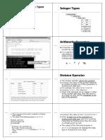 Chapter 2(b)- Data Type and Operators