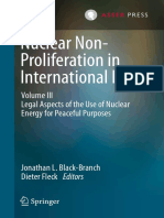 Jonathan L. Black-Branch, Dieter Fleck Eds. Nuclear Non-Proliferation in International Law - Volume III Legal Aspects of the Use of Nuclear Energy for Peaceful Purposes