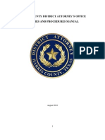 Harris County District Attorney's Office Operations Manual