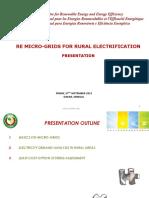 7 1 Re Micro-grids for Rural Electrification David Vilar Ecreee