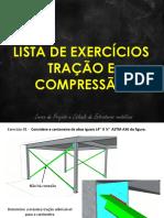 Lista de Exercícios Aulas 4 e 5 Tração e Compressão Proposto