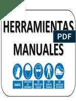 HERRAMIENTAS MANUALES SEÑALIZACIÓN