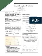 Transformada de Laplace de derivada