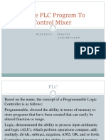 Simple PLC Program to Control Mixer