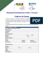 Caderno Campo PIC