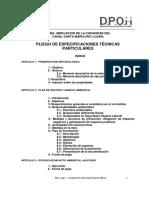 Especificaciones Técnicas Particulares Canal Sta Marìa Lujan
