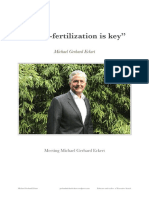 Michael Gerhard Eckert - Cross-fertilization is key