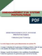 Dimensionnement de Sys PV
