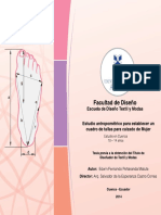 Estudio Antropometrico Calzado Mujer-Ecuador-2014