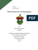 politik organisasi dan kepemimpinan