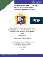 EDUCACION Y DESEMPLEO JUVENIL EN EL DISTRITO DE ASILLO