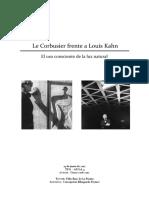 Luz Natuarl en La Rquitectira -Louia Kahn- Le Cobusier