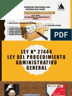 Ley 27444 Ley Del Procedimiento Administrativo