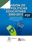 CNE y UNESCO. Revisión de Las Políticas Educativas 2000-2015