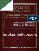 Gerencia de Hospitales - Organización y Funciones de Sus Departamentos (1988) - Rowland