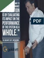Goldratt acerca de juzgar el desempeño local