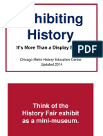 Exhibiting History Update 2014