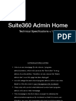 Suite360 Admin Homepage Specifications v.1.0
