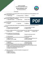 2ND PT - EPP Home Economics With TOS