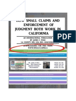 How Small Claims and Enforcement of Judgment Both Work in California - by James F. Polk, LDA
