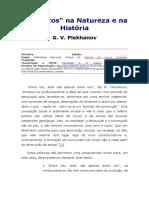 Plekhanov - Os Saltos Na Natureza e Na História