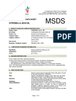 Msds Herbani Citronella Java Oil
